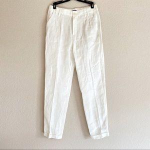 NWOT Massimo Dutti Linen Trouser in ivory